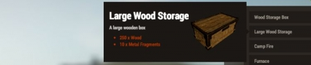 Large wood storage